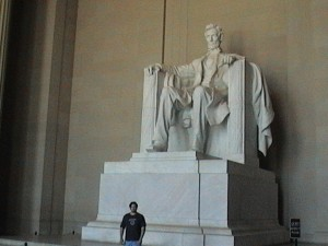 Me in-front of the Lincoln Monument 2003